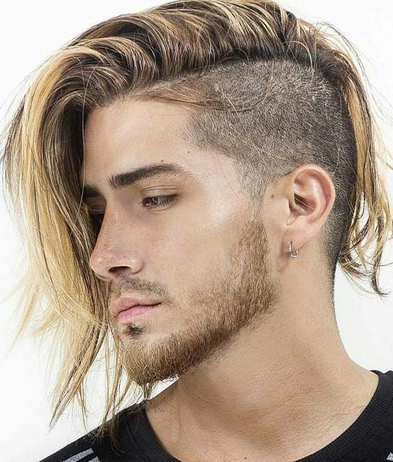 22 Sensational Side Shaved Long Hairstyles For Men 2018 Hair Color