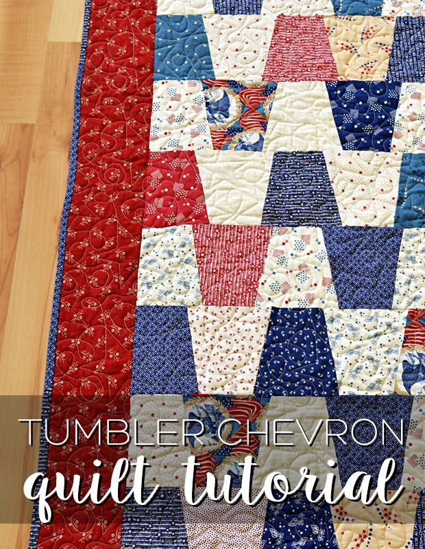 1218 best quilts and quilt blocks images on pinterest love this fabric tumbler chevron tutorial urtaz Image collections