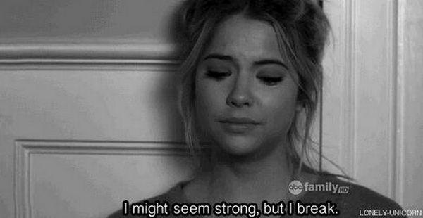 I break...