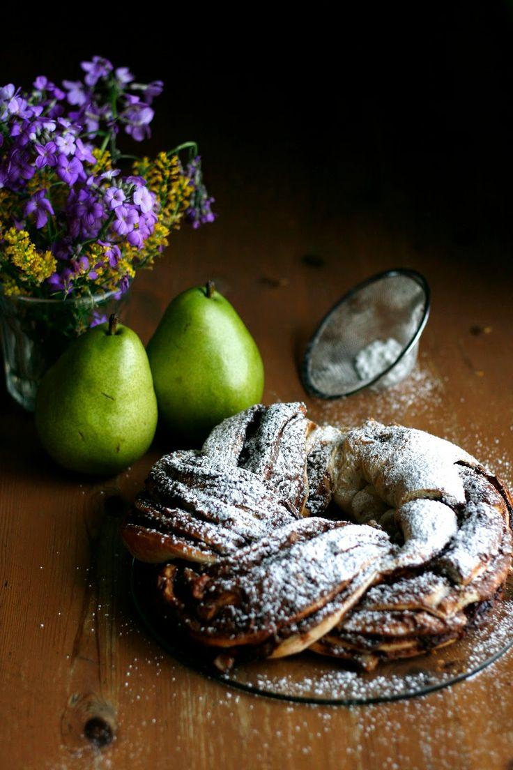Braided Pear Nutella Bread