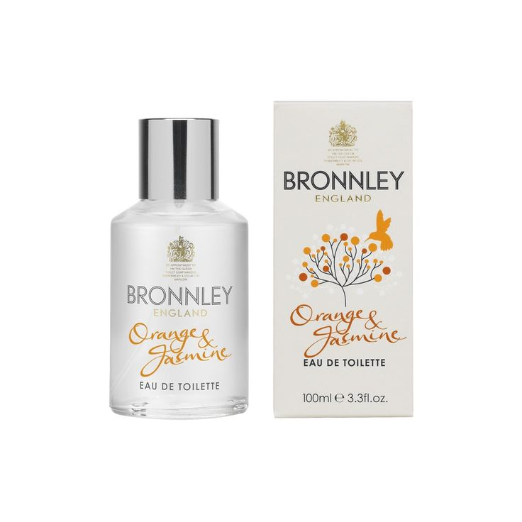 Bronnley Orange & Jasmine Eau De Toilette - Brighten up your day with an enlivening burst of this sunny Eau de Toilette!