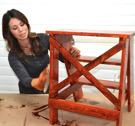 How To Paint Furniture   Authentic Vintage Distressed Finish with Minwax Stain  …