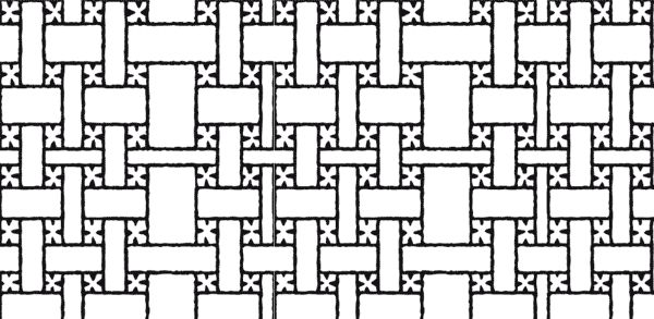 Traditionella sydsamiska flätmönster. Bilden är en mönsterdel som kan upprepa oändligt så att mönstret bildas. De traditionella mönstren är tusen år gamla och kan ...