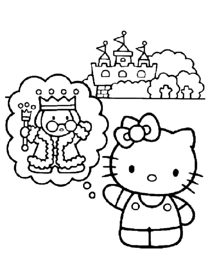 Épinglé sur hello kitty malvorlagen