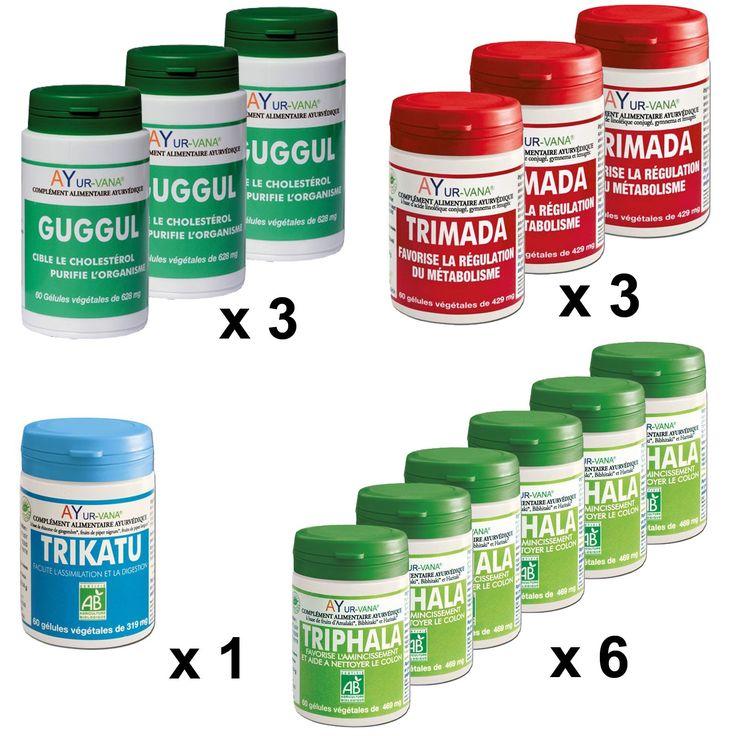 La cure ayurvedique minceur permet de retrouver votre poids de forme idéal en 90 jours, avec 4 produits naturels pour bien digérer et éliminer. #régime #ayurveda