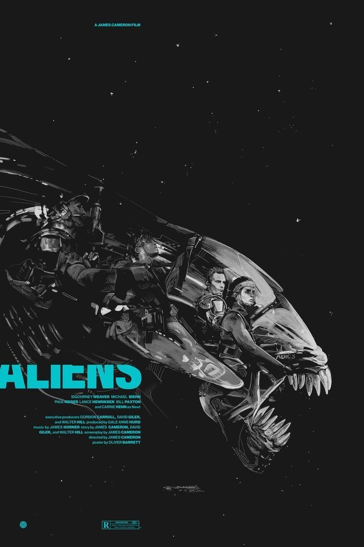 Poster design game - Aliens Poster By Oliver Barrett
