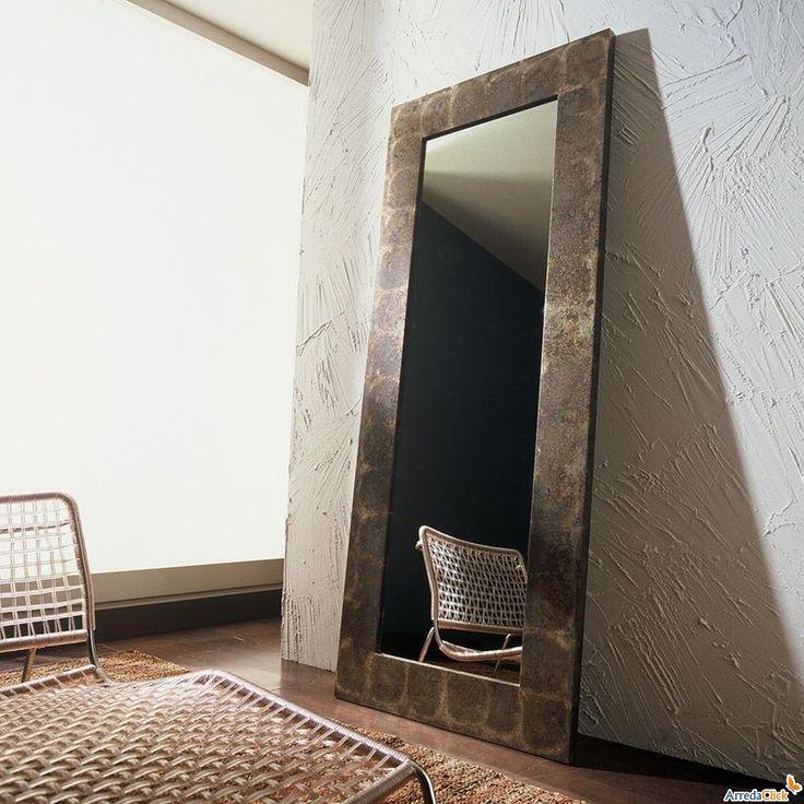 old iron mirror