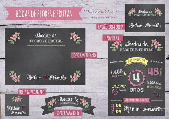 Bodas De Casamento 4 Anos Bodas De Flores E Frutos Com