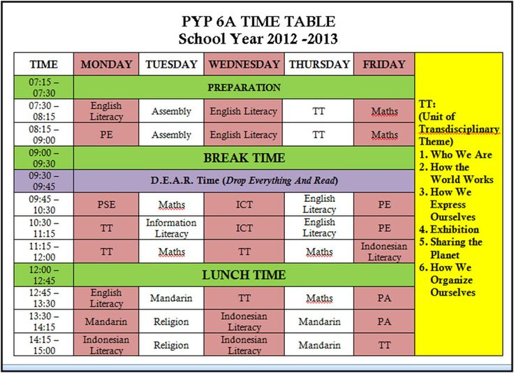 116 best IB images on Pinterest DIY, Beautiful and Class decoration - class timetable