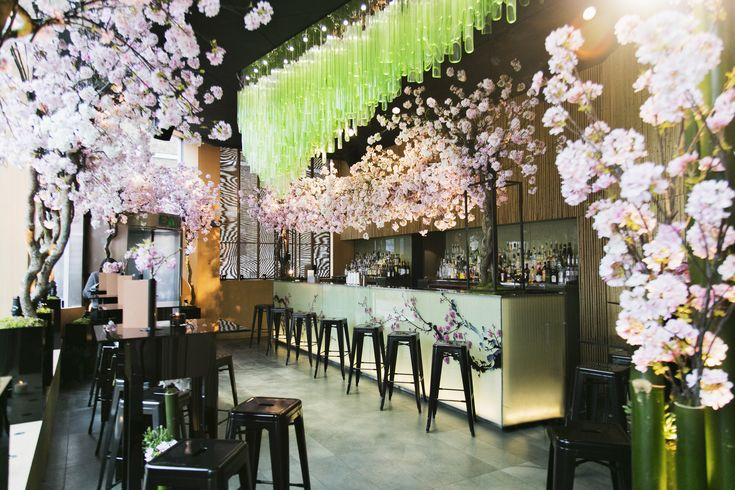Sakura at Sake no Hana   http://sakenohana.com/london/  #sakura #cherryblossom #sakuratea #bellini #hanami #icetea #jasminetea #cocktail #sake #sakuratini #bentobox #cherry-chocolate #icecream #macarons #cherryblossommacarons