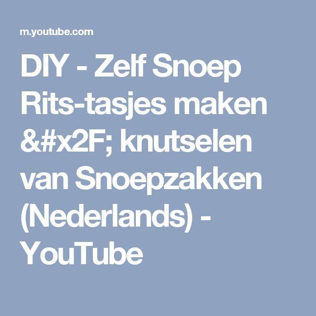 DIY - Zelf Snoep Rits-tasjes maken / knutselen van Snoepzakken (Nederlands) - YouTube