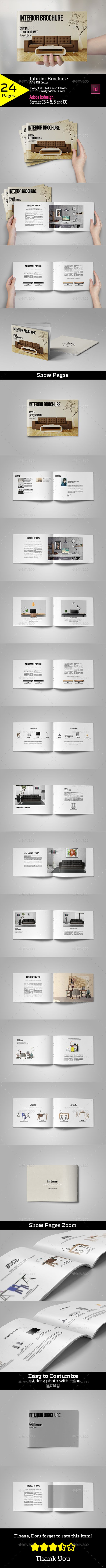 Interior Brochure A4/US Letter Template InDesign INDD #design Download: http://graphicriver.net/item/interior-brochure-a4us-letter/13369968?ref=ksioks