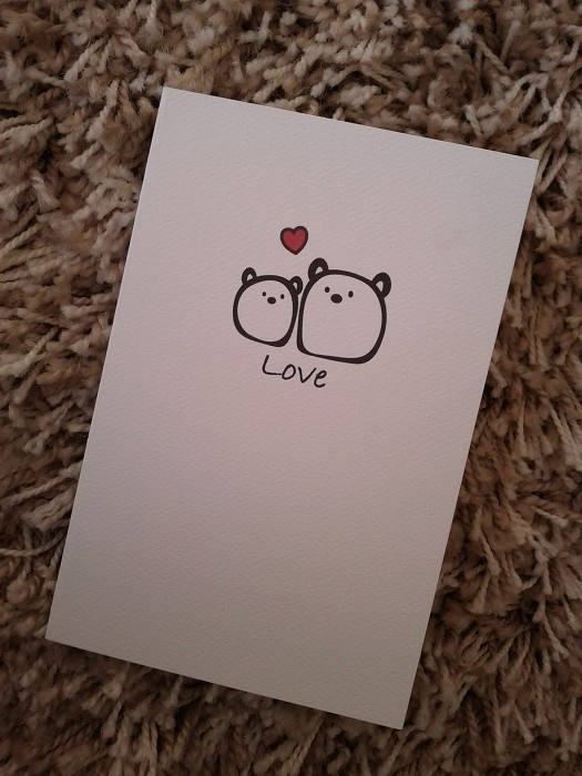 The Gum Bears - Cute Romance Card on White textured Cardstock - by CuteKotori on madeit