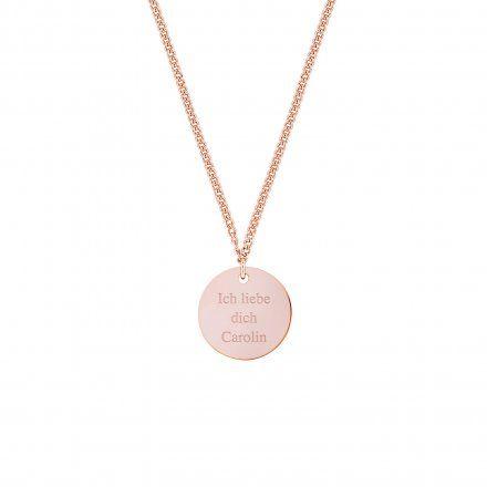 Personalisierbare Kette 'Mia' rosé online kaufen   Geschenke.de Online Shop