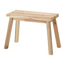 IKEA - SKOGSTA, Bank, Massief hout is een slijtvast natuurmateriaal dat indien nodig geschuurd en afgewerkt kan worden.