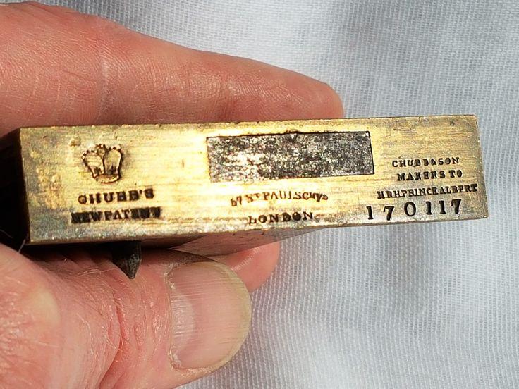 Chubb's new patent detector lock