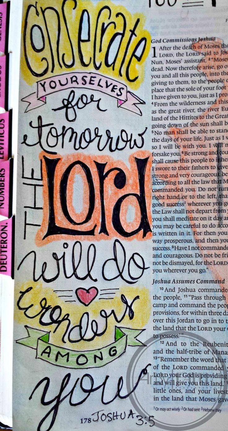 Artsy Faith: Joshua 3:5