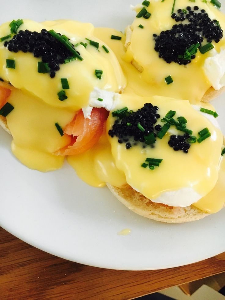 [Homemade] Eggs Royale with Chives & Caviar