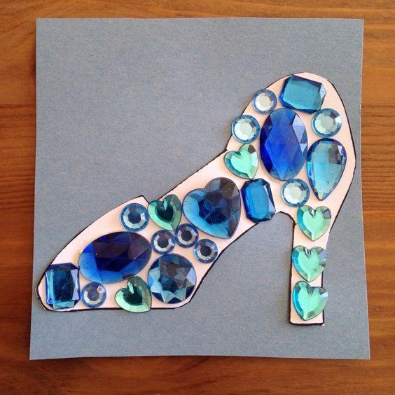 Cinderella's Glass Slipper Craft - Princess Craft - Preschool Craft