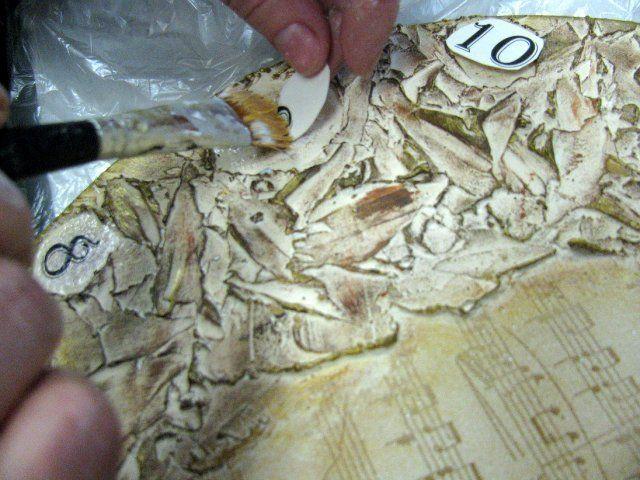 Создаем часы с рельефной пастой