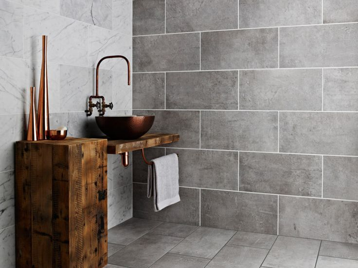 AW 15/16 Tiling Trends with Topps Tiles | -like these large grey tiles