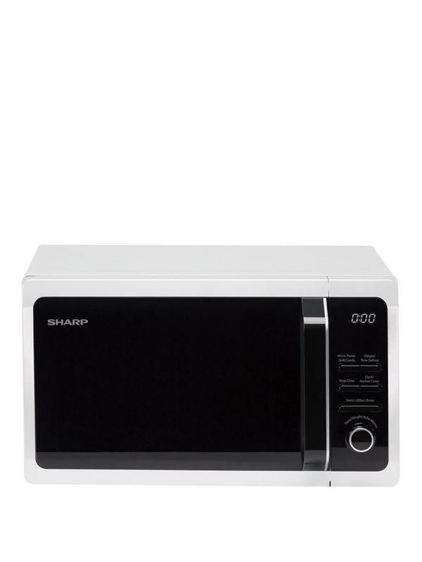 Give your kitchen an upgrade with this Sharp R664WM TC Grill Microwave. A great choice for busy kitchens who need some extra cooking space, this Sharp TC Grill Microwave offers maximum versatility.With an800-watt microwaveand a powerful1000-watt grillin one, it boasts 5 microwave power levels,10 auto menu optionsand weight/timedefrostprograms too.Complete with a handy kitchen timer and achild safety lock, this Sharp microwave was made for bustling family kitchens!Auto Cook: YDepth: 359 M...