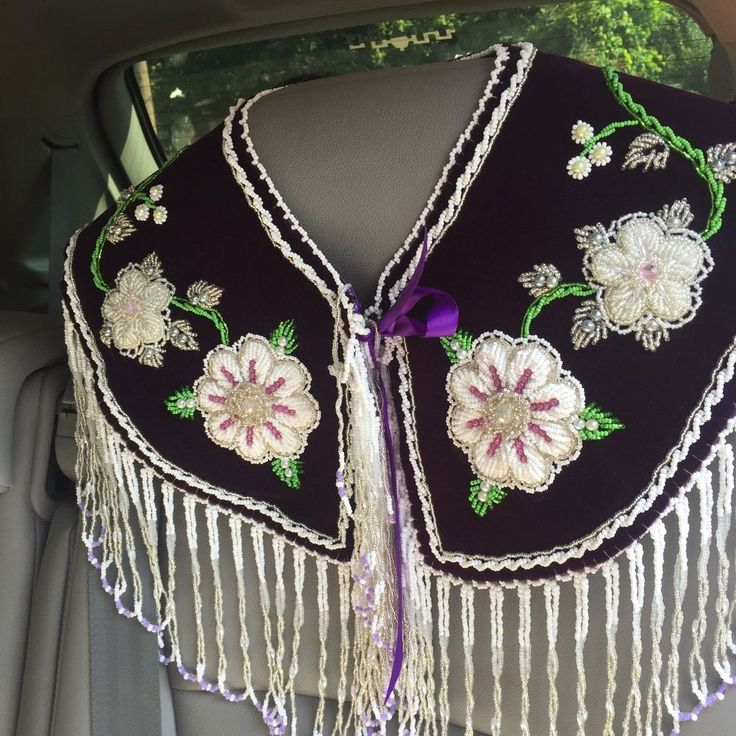 Native American Indian Womans Beaded Regalia