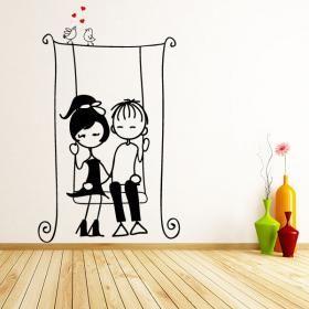 Buscas vinilos infantiles con diseños románticos para la decoración de interiores o exteriores ?. En Vinilos Casa ® te proponemos este simpático y exclusivo vinilo decorativo con el que podrás decorar paredes, decorar cristales, decorar puertas.