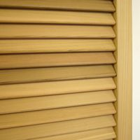 Timber shutters and louvres, full range - Open Shutters 40 degree French louvre raw.