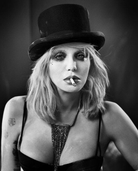 Courtney Love love this one with the mi Vida loca dots on the face My crazy life!!!Epic