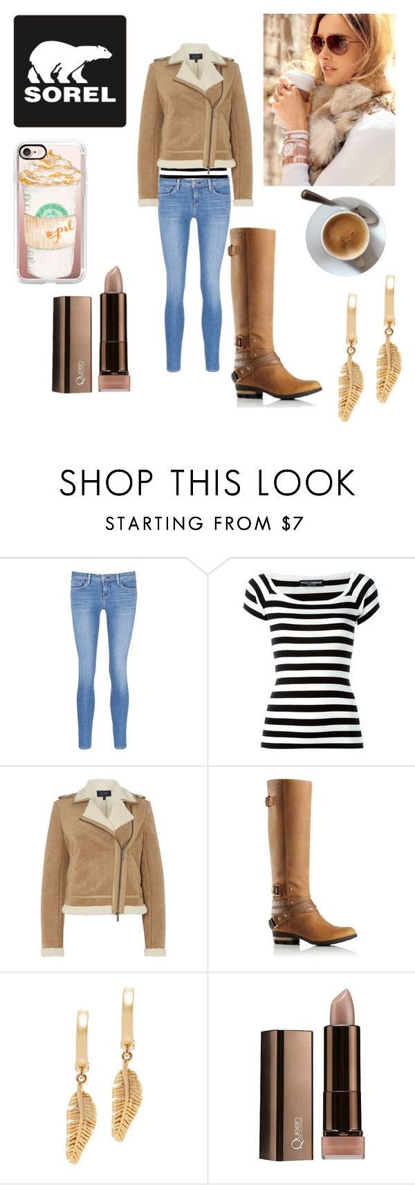 """""""Kick Up the Leaves (Stylishly) With SOREL: CONTEST ENTRY"""" by badwolfbay6 ❤ liked on Polyvore featuring SOREL, L'Agence, Dolce&Gabbana, Armani Jeans, Michael Kors, Casetify and sorelstyle"""