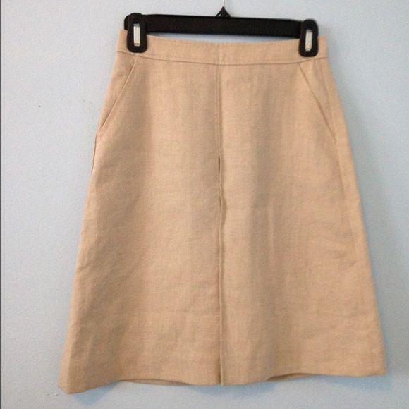 Uniqlo Tan Skirt with Pleat Detailing Tan Uniqlo skirt with pleat detailing. No Trades UNIQLO Skirts Midi