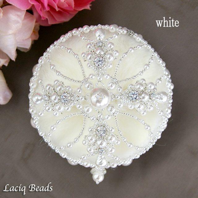 Виктория кольцо подушки ручной работы комплект бисер свадьба кольцо замена аксессуары Swarovski Pearl роскошный роскошный