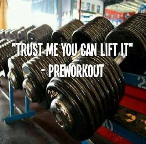 """Trust me, you can lift it."" - Pre-Workout #FitFam - http://absextreme.com/gym-memes/quottrust-me-you-can-lift-it-quot-pre-workoutfitfam"