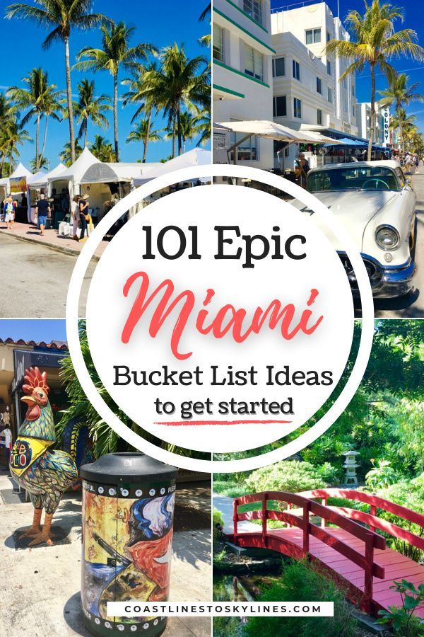 101 Things To Do In Miami Your Ultimate Miami Bucket List Coastlines To Skylines Miami Travel Guide Miami Travel Miami Vacation