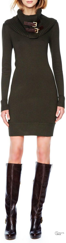 Michael Kors ● Belt-Neck Sweaterdress