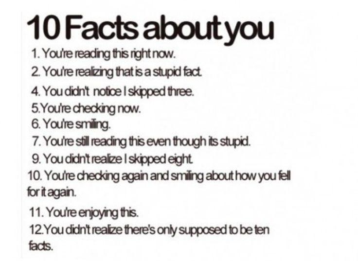 I Love These Facts. Makes You Think.