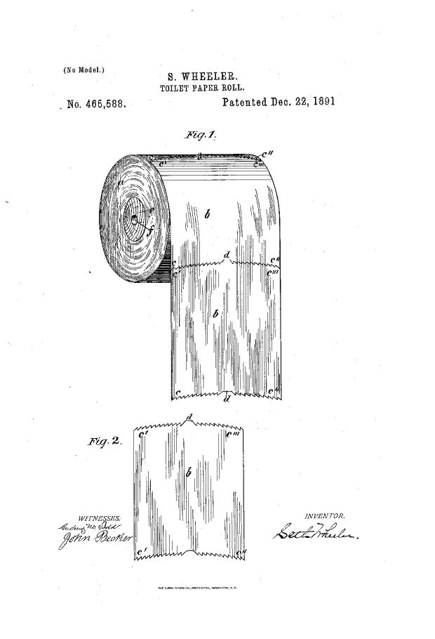 So which way should you hang your toilet paper? This picture will clear up the debate forever Credit: United States Patent and Trademark Office