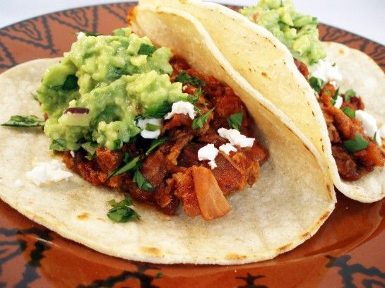slow cooker chipotle pork tinga tacos--adapted from Rick Bayless recipe
