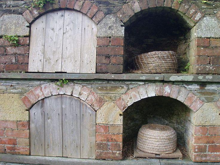 bee boles | Bee boles. Lost Gardens of Heligan, Cornwall, UK