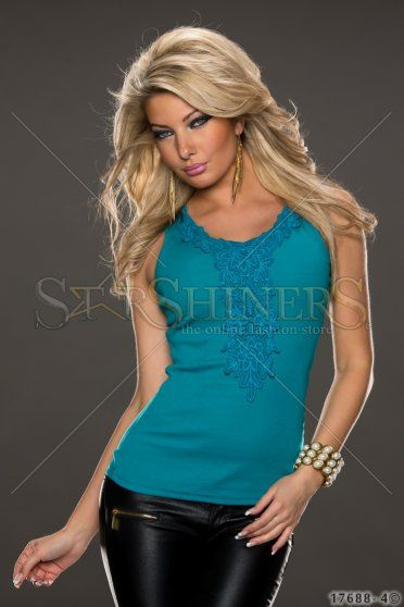 Top Fancy Escape Turquoise