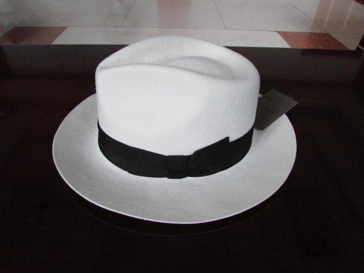Белый панама шерстяной войлок шляпу шляпы для девочек джентльмен гангстер шляпа черная полоса с бантом вводная часть 6.5 см краев большой размер XL 61 см