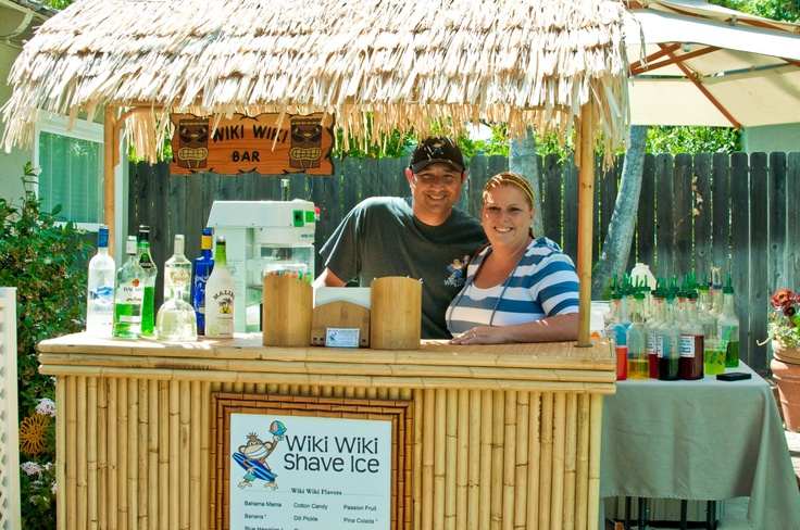 Van and Sheri serving up some Adult Shave Ice!!!  Wiki Wiki Shave Ice