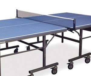If you live for ping pong, you'll kill for this blue outdoor table tennis table. It's super heavy-duty, is resistant to water and all kinds of bad weather, has wheels that lock it in place, and includes holders for the net, ball, and rackets. With a little bit of practice you can be as good as Forrest Gump is.
