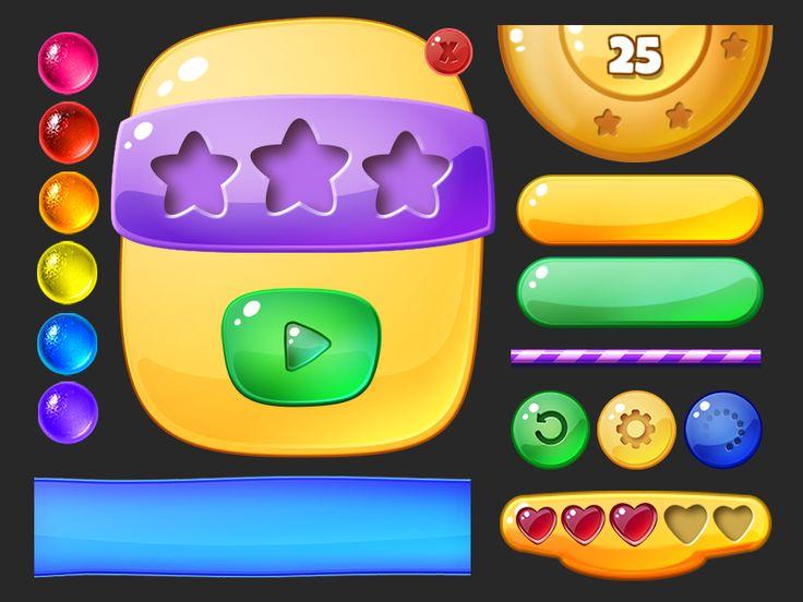 Dribbble - Gummy UI Elements by Sarah Carmody