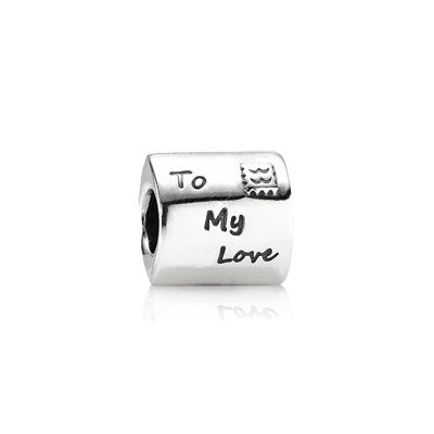 Love Letter in sterling silver and the inscription: 'To my love'. So sweet!  $40 #PANDORA #PANDORAcharm