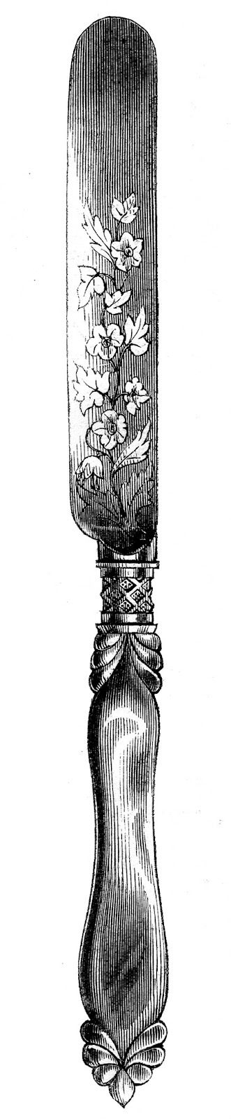 *The Graphics Fairy LLC*: Vintage Clip Art - Fancy Utensils - Fork Spoon Knife