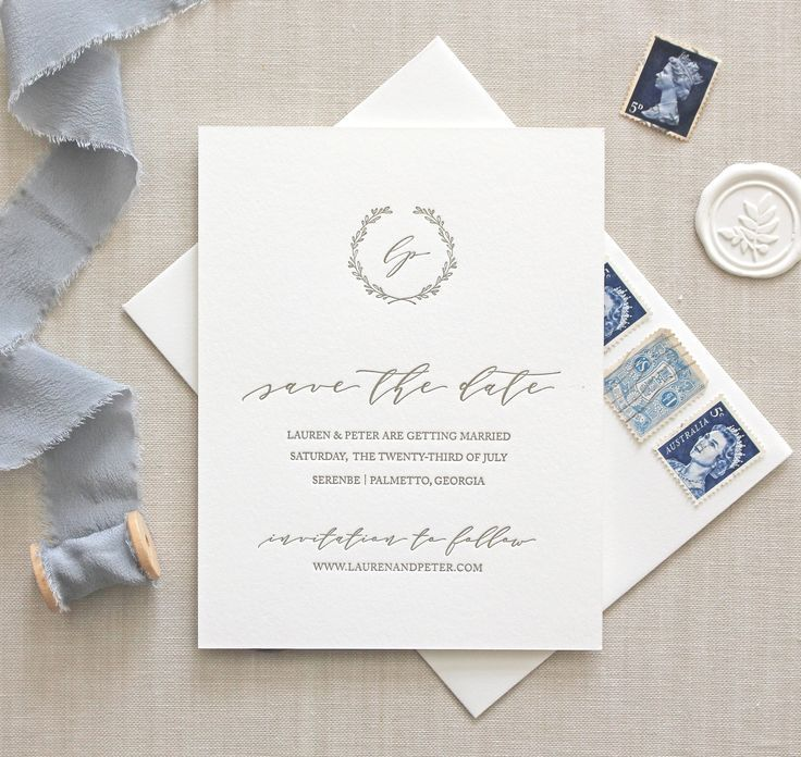 Letterpress Save the Date / Serenbe Design / CHATHAM & CARON letterpress studio