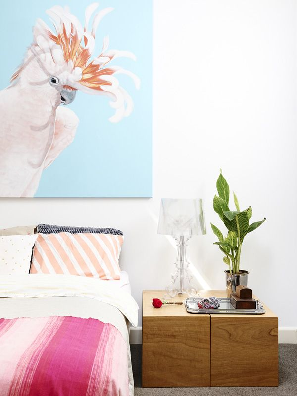 Colour scheme and bedside table