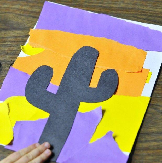 desert theme art project for kids